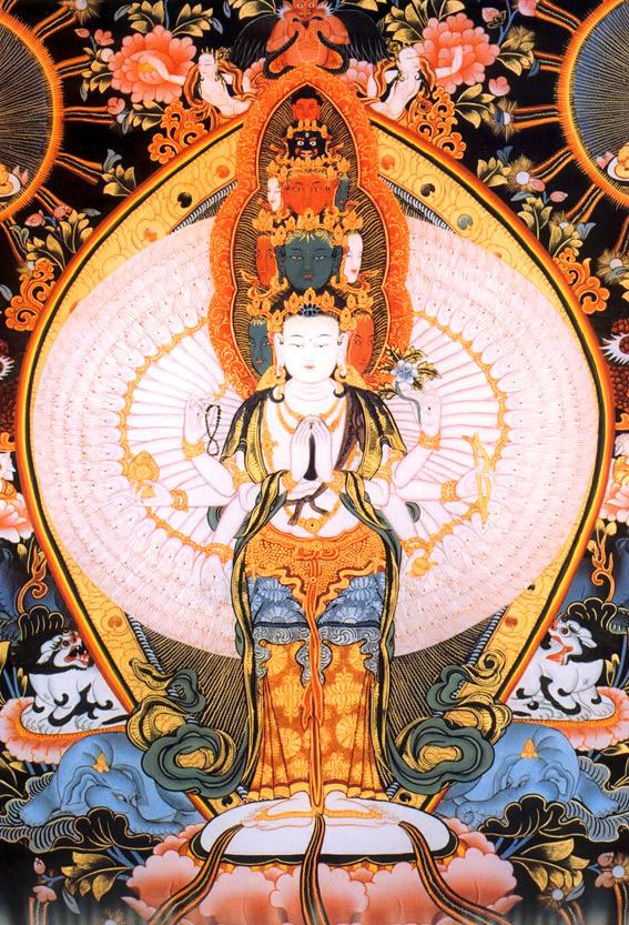 Đức Quán Thế Âm Avalokiteshvara và thần chú sáu âm 2