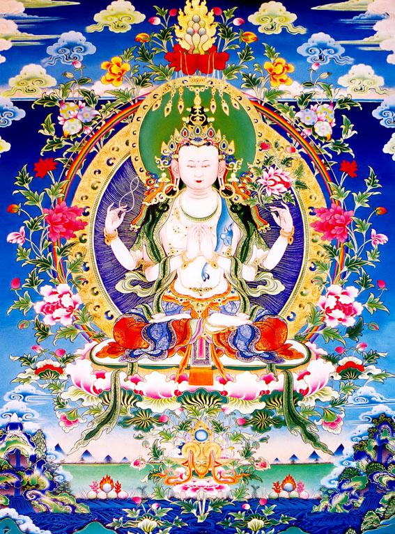 Đức Quán Thế Âm Avalokiteshvara và thần chú sáu âm 1