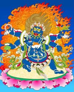 Đức Đại Hắc Kim Cương 6 Tay Mahakala Vajra